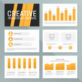 Vector business presentation template set. Graph and chart elements  template design Royalty Free Stock Images