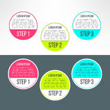 Vector business process steps circles infographics Royalty Free Stock Photography