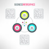 Vector business process steps infographic elements Royalty Free Stock Images