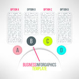 Vector business process steps infographic elements Royalty Free Stock Photos