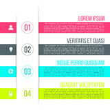Vector business process steps infographic template Royalty Free Stock Photography