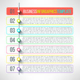 Vector business process steps infographics Royalty Free Stock Photography