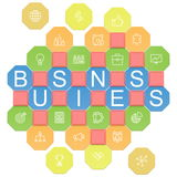 Vector Business Puzzles Stock Photography