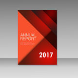 Vector Business report square and geometric cover design. Business brochure template layout, cover design, annual report Royalty Free Stock Photography