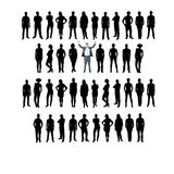 Vector business silhouette, white background. Business people silhouettes, unique concept stock illustration