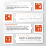 Vector business step paper chart and numbers banner design template. Stock Photography
