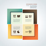 Vector business step paper lines and design template Stock Photography