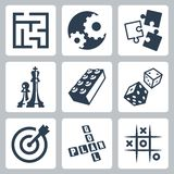 Vector business strategies and development 'game concept'. Icons set Royalty Free Stock Photos
