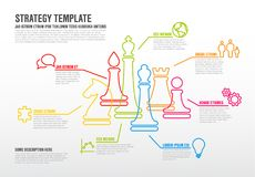Vector business strategy infographic template Royalty Free Stock Photo