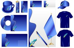 Vector business style set (blue) Stock Images