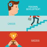 Vector business success concepts in flat style royalty free illustration