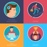 Vector business success concepts in flat style Stock Photos