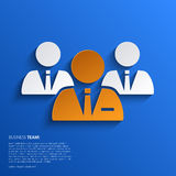 Vector business team illustration on blue Stock Photography