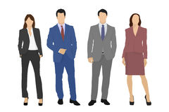 Vector business team people Royalty Free Stock Photo