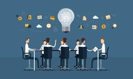 vector business teamwork meeting and brainstorm Stock Photos