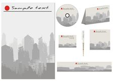 Vector business template collection Royalty Free Stock Photos