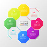 Vector business template for presentation. Royalty Free Stock Photos