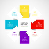 Vector business template for presentation. Stock Image