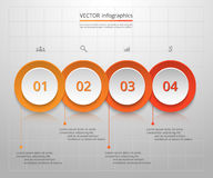 Vector business template for presentation. Stock Photos