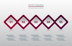 Vector business template for presentation. Stock Images