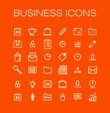 Vector business universal Outline Icons For Web Royalty Free Stock Photo
