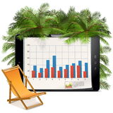 Vector Business and Vacation Concept Stock Photo
