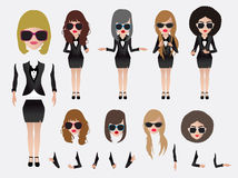 Vector business woman Royalty Free Stock Photos