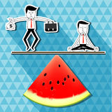 Vector of businessman. balance life. Royalty Free Stock Images