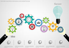Vector businessman brainstorming ideas, concepts backlash driven to push the world to spin a successful business, flat design. Businessman brainstorming ideas Royalty Free Stock Images