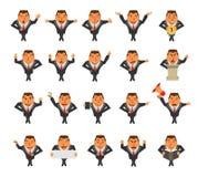 Vector businessman cartoon character Stock Photo