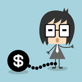 Vector businessman chain debt or money, EPS10 Royalty Free Stock Photos