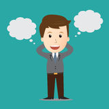 Vector of Businessman dreaming bubble.concept. Vector of Businessman dreaming bubble.concept Stock Images