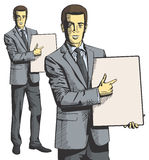Vector Businessman With Empty Write Board Stock Photography