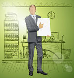 Vector Businessman With Empty Write Board Stock Photo