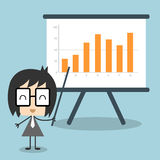Vector businessman giving a presentation Stock Images