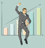 Vector Businessman With Hands Up Royalty Free Stock Photography