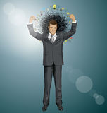 Vector Businessman With Hands Up Royalty Free Stock Photos