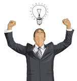 Vector Businessman With Hands Up Stock Photos