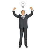 Vector Businessman With Hands Up Stock Image