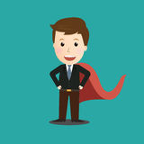 Vector of Businessman Hero.Concept. Royalty Free Stock Photo