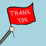 Vector businessman holding thank you sign, Illustration EPS10 Royalty Free Stock Photography