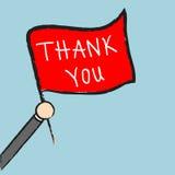 Vector businessman holding thank you sign, Illustration EPS10