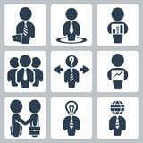 Vector businessman icons set Royalty Free Stock Photos