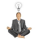 Vector Businessman in Lotus Pose Meditating Stock Photos