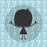 Vector businessman with question, Illustration EPS10 Stock Photos