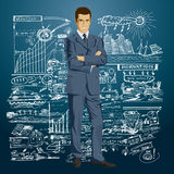 Vector Businessman In Suit Stock Image