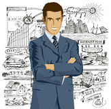 Vector Businessman In Suit Royalty Free Stock Photo