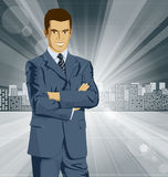 Vector Businessman In Suit Stock Photography