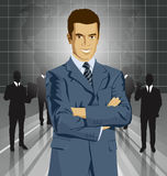 Vector Businessman In Suit Stock Photos