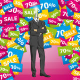 Vector Businessman In Suit Royalty Free Stock Photos
